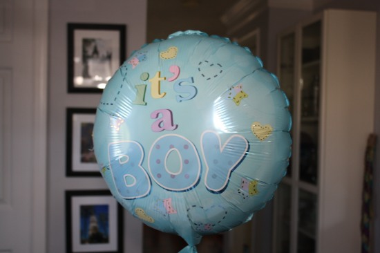 I joked that I always wanted a baby when opting for the epidural. My wife and sister got me this balloon. My family knows me well.