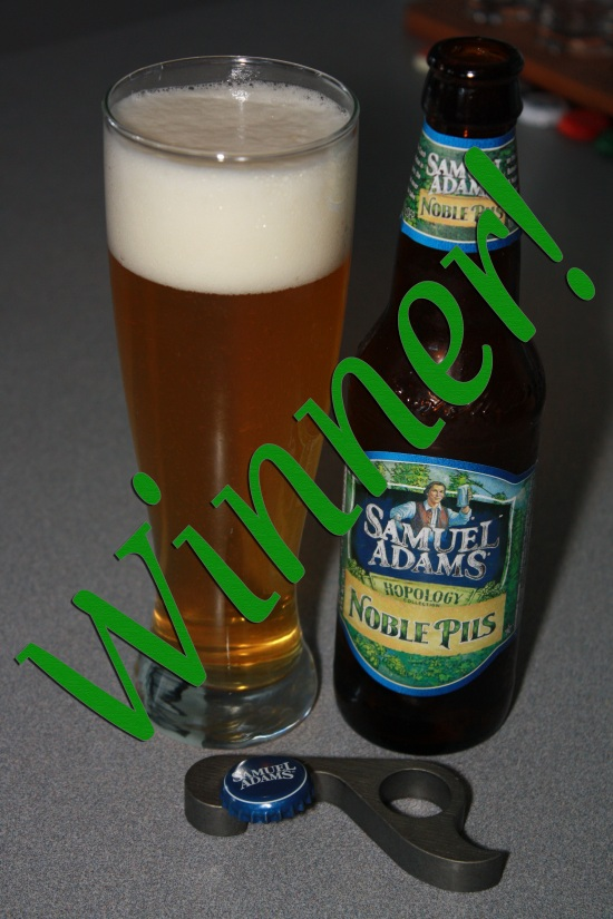 Sam Adams Noble Pils moves on to the quarters!